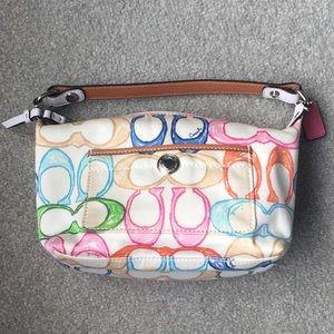 Authentic Coach Scribbles Multicolour Mini Handbag